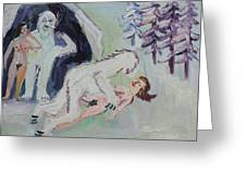 Sex With A Yeti Greeting Card