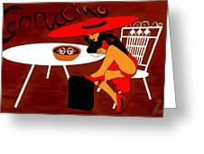 Sexy Cappuccino Greeting Card
