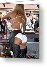 Sexy Female Bartender  Greeting Card