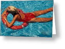 Sexy Red Bikini Greeting Card