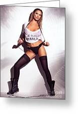 Sexy Woman In Wet Je Suis Charlie Shirt And Stockings Charlie Riina Greeting Card