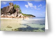 Seychelles Rocks Greeting Card