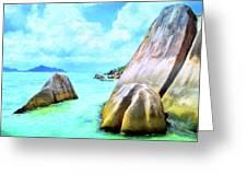 Seychelles Shallows Greeting Card