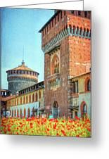 Sforza Castle Milan Italy Greeting Card
