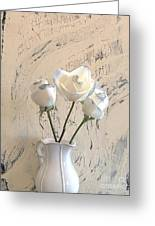 Shabbi Chic Roses Greeting Card by Marsha Heiken