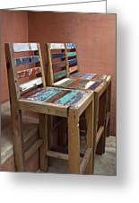 Shabby Chic Chairs Greeting Card