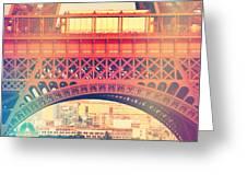Shabby Chic Eiffel Tower Paris Greeting Card