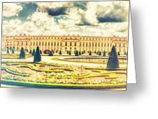 Shabby Chic Hdr Panorama Versailles Paris Greeting Card