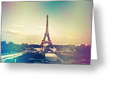 Shabby Chic Vintage Style Eiffel Tower Paris Greeting Card