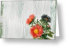 Shabby Chic Wildflowers On Wood Greeting Card