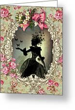 Shabby Fae Silhouette Freedom Greeting Card