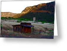 Shack In The Canyons Greeting Card