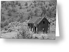 Shack On A Hill Greeting Card