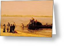 Shad Fishing At Gloucester On The Delaware River 1881 Greeting Card