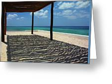 Shade By The Beach Greeting Card