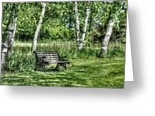 Shaded Bench Greeting Card