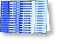 Shades Of Blue Highrise Greeting Card