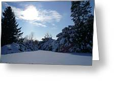 Shades Of Blue In Winter Greeting Card
