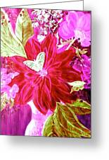 Shades Of Pink Flowers Greeting Card