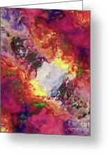Shades Of Red Abstract Greeting Card