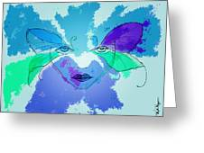 Shades Of The Butterfly Greeting Card