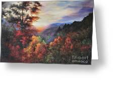 Shades Of Twilight Greeting Card