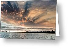 Shadow Cloud Over Humboldt Bay Greeting Card