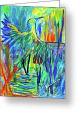 Shadow Heron Greeting Card