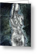 Shadow In Nude Greeting Card