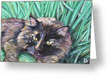 Shadow In The Grass Greeting Card