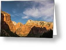 Shadow Mountain Zion National Park Utah Greeting Card