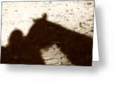 Shadow Of Horse And Girl Greeting Card