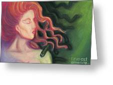 Shadow Of Medusa Greeting Card