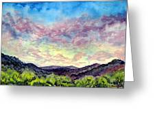 Shadow Of The Valley Greeting Card