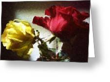 Shadow Roses Greeting Card