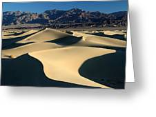 Shadows And Light On The Sand Dunes Greeting Card