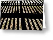Shadows And Lines - Semi Abstract Greeting Card