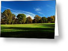 Shadows And Trees Of The Afternoon - Monmouth Battlefield Park Greeting Card
