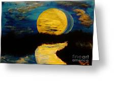 Shadows In The Moon Greeting Card