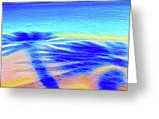 Shadows In The Surf Greeting Card