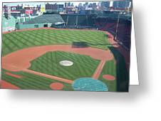 Shadows Of  Fenway Park Greeting Card