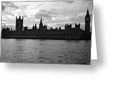 Shadows Of Parliament Greeting Card