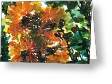 Shadows Of Sunflowers Greeting Card