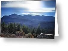 Shadows Of The Majestic , White Mountains Greeting Card