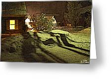 Shadows Of Winters Night Greeting Card