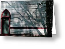 Shadows On Churchdoor Greeting Card