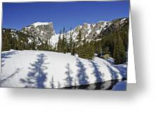 Shadows On Snow Greeting Card