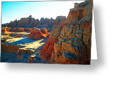 Shadows On The Badlands Greeting Card