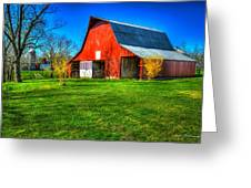 Shadows On The Barn Tennessee Farm Art Greeting Card