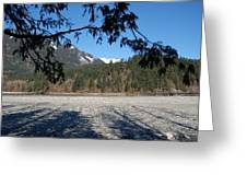 Shadows On The Coquihalla River  Greeting Card